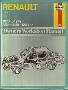 renault 12 haynes owners workshop manual 1970 1979 all models 1289cc rh ebay co uk User Manual PDF Operators Manual
