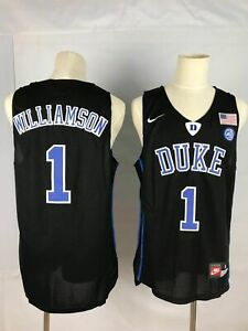 reputable site 7d267 d9c89 Details about Zion Williamson #1 Duke Blue Devils Black Basketball Sewn  Jersey
