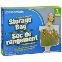 1 Big Xxl Large Plastic Storage Bags W Handle 24x20 Zip Loc Clothes Bag