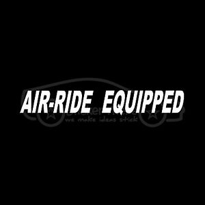 AIR-RIDE-EQUIPPED-Sticker-Vinyl-Decal-For-Tractor-Trailer-Truck-Big-Rid-18-Wheel