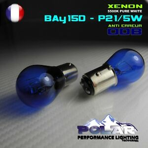 Pack 2 ampoules Blanches P21//5W Look X/énon