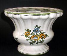 bouquetière pique-fleurs en faience De Moustiers Jallier vase