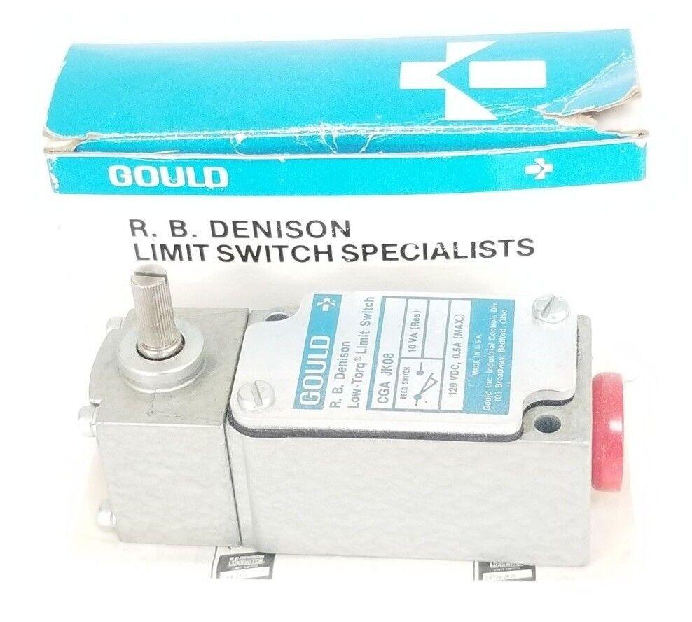 Nuevo En GOULD Caja GOULD En R.B. DENISON CGA-JK08 límite interruptor 120VDC, 0.5 A, 10VA, cgajk 08 1223fa