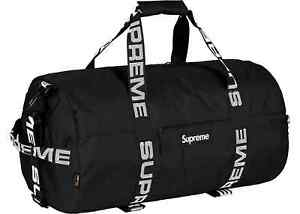 Image Is Loading Supreme Large Duffle Bag Ss18 Black Cordura