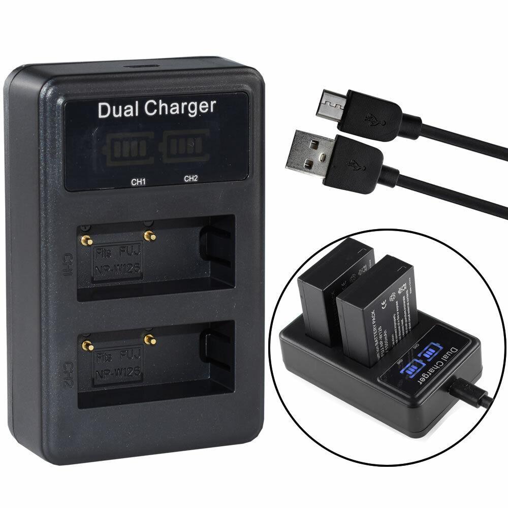 NP-W126 NP-W126S Battery Charger For Fuji X-T3 X-T20 X100F X-T100 X-T20 HS35EXR