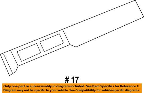 GM OEM Instrument Panel Dash-Trim Plate 20935584