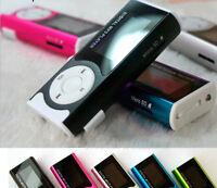 Mini Clip Mp3 Player FM Raudio Sport Musik Mp3 16GB USB MicroSD TF Einbauschlitz