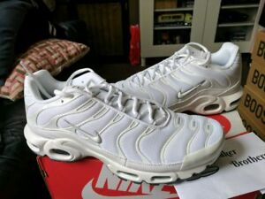 Details about Nike Air Max Plus TN Tuned 1 Triple White Black Cool Grey Trainer Men 604133 139