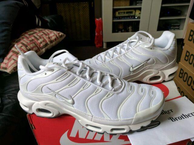 hot sale online 1dda5 561da Nike Air Max Plus TN Tuned 1 Triple White Black Cool Grey Trainer Men  604133-