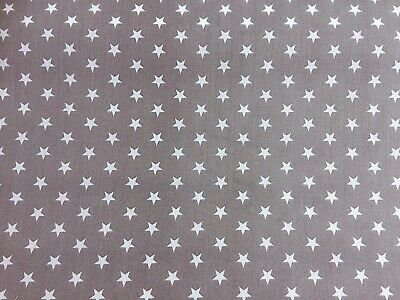 Polycotton Fabric NEW Crafts MINI STAR BLACK Metre Material Special Offer