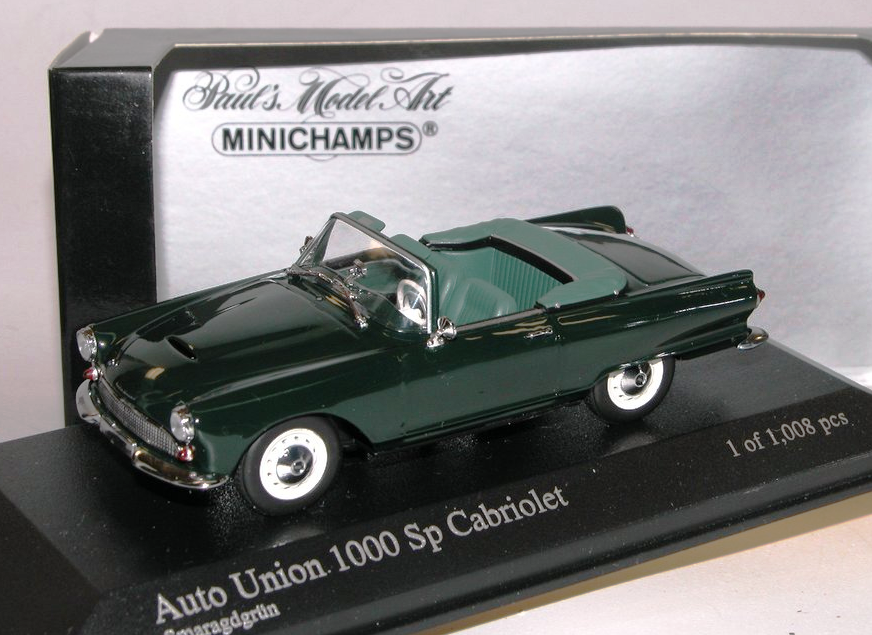 011032 1961 minichamps 400 auto - union 1000 sp roadster grüne 1 43