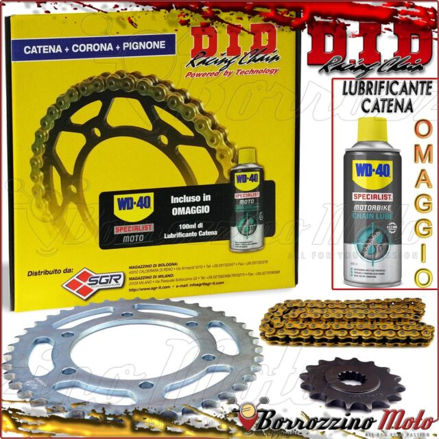 SET TRANSMISSION DID PROFESSIONNEL CHAÎNE ENGRENAGE PIGNON HONDA 400 CBR R-RR 90
