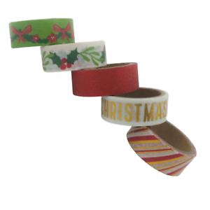 Washi Tape Ruban Adhésif Autocollant Scrapbooking Décoration Carte Noel  5x3m