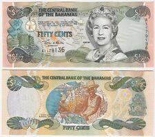 Bahamas 50 Cents 1/2 Dollar 2001 P-68 UNC Uncirculated Banknote