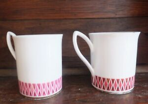 Bone China Pair Coffee Cups Elizabethan