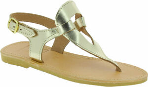 Attica-Artemis-women-039-s-flat-sandals-gold-laminated-leather-handmade-in-Greece