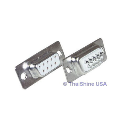 5 x D-SUB CONNECTOR 9 PINS FEMALE USA SELLER Free Shipping