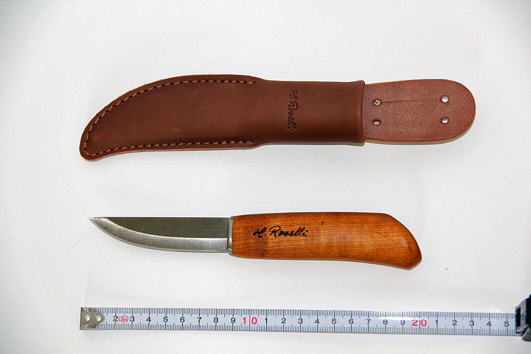 Roselli Messer Puukko Wootz UHC - charpenter knife - - - RW210  Finnland, NEU unben. f3d9d8
