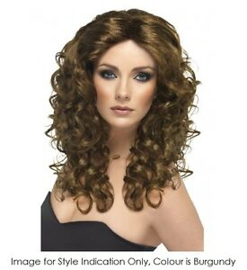LONG-CURLY-BURGUNDY-GLAMOUR-WIG-MELBOURNE-COSTUME-ACCESSORIES