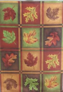 """Fall Leaves Garden Flag by Toland , 11"""" x 14.5"""" , #543, Autumn Leaf"""