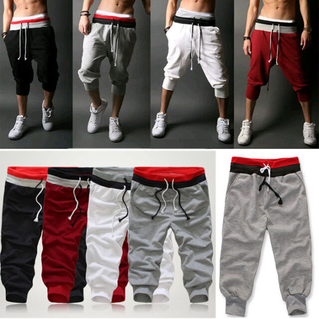 Fashion Men Casual Sport Pants Short Harem Dance Baggy Jogging Training Trousers