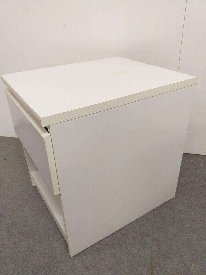 Sengebord, Hvid laminat