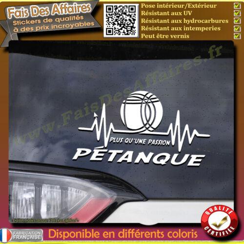 Sticker Autocollant pétanque plus qu'une passion sport boulle de petanque obut