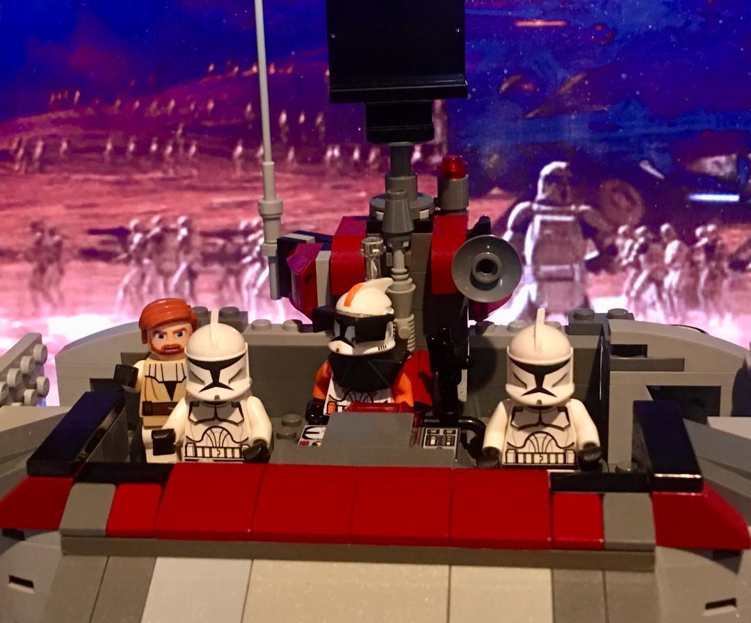 Lego stjärnornas krig Republic Forward Command Center Obi -Wan, örlogskapten Cody och Clones