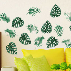 AU Large Green Palm Leaf Wall Art Mural Removable Vinyl Decal ...