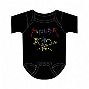 METALLICA-cd-lgo-CRAYON-MOUSE-SCARY-GUY-Official-Baby-ONE-PIECE-Shirt-12-Mth-new