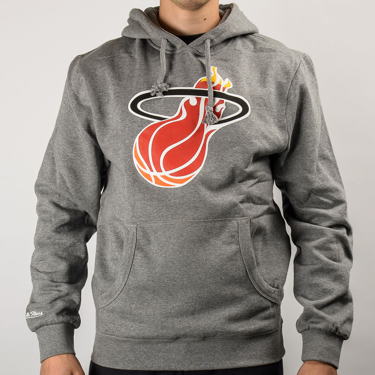 Mitchell & Ness NBA Miami Heat Team Logo Hoody TEAMLOGOHOOD-MIAHEA-GRY
