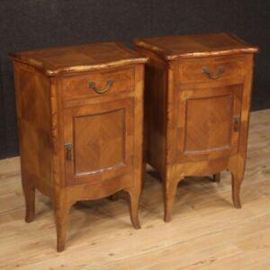 Paire-de-Tables-Chevet-en-Style-Ancien-Luigi-XV-Meubles-Bois-Chambre-Lit-900