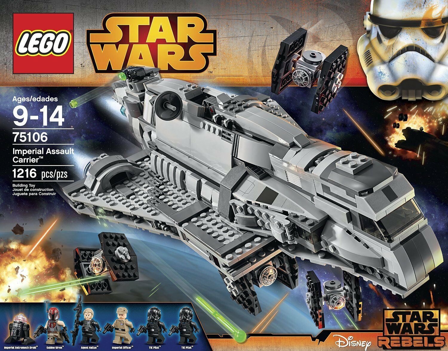 LEGO 75106 Imperial Assault Carrier™ - STAR WARS 9-14anni