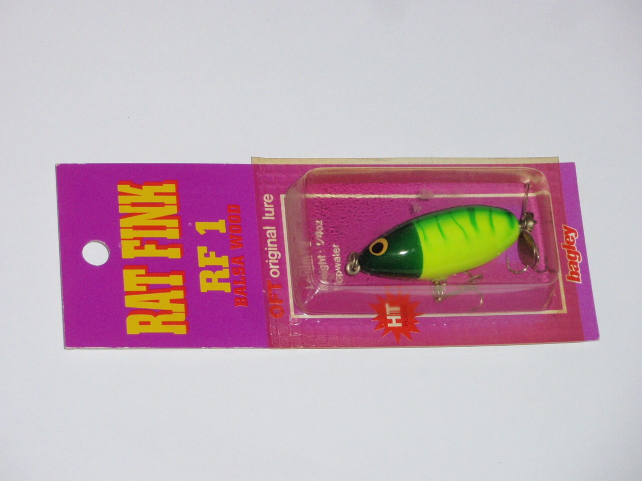 Bagley Ratte Fink RF 1 Top Wasser Fischköder Selten Farbe 6