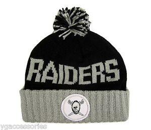 de67eead46c2a NFL Oakland Raiders Mitchell and Ness Cuffed Pom Winter Knit Hat ...