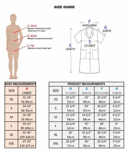 Custom Embroidered Women/'s Lab Coat  Short Sleeves