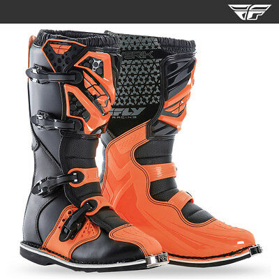 FLY RACING MAVERIK MOTOCROSS MX ENDURO BIKE BOOTS - BLACK / FLO ORANGE