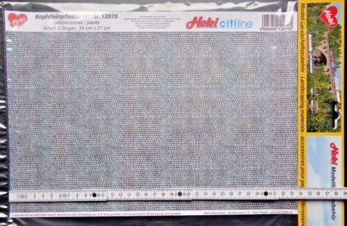 34 x 21 cm pavés 34,97 €//m² 3 fiches Peupliers citiline HEKI 12070 h0