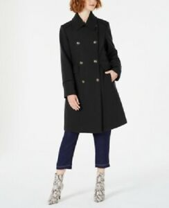Vince-Camuto-Women-039-s-Double-Breasted-Wool-Coat-Peacoat-Black-Size-S-360-NwT