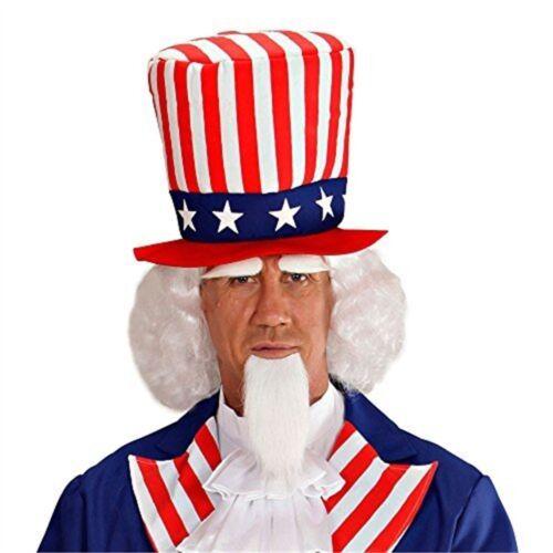 Independence Usa Fancy Dress Goatee Day Uncle Sam Wig W//goatee Beard Brow