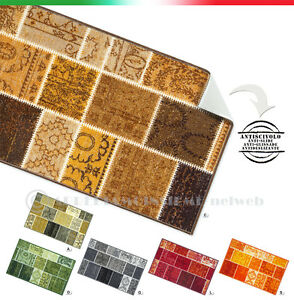 Dettagli su TAPPETO CUCINA moderno antiscivolo 7 MISURE vintage passatoia  bagno mod.TAPIRO25