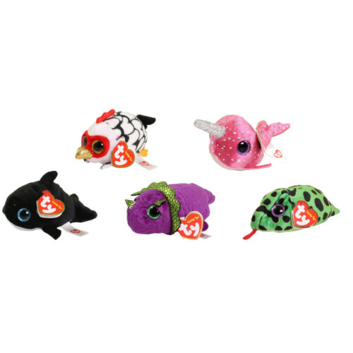 TY Beanie Boos SET of 5 FALL 2018 Releases Teeny Tys Stackable Plush Nelly+4