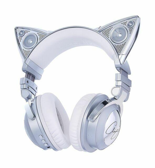 Brookstone 320538 Limited Edition Ariana Grande Wireless Bluetooth Headphones Chrome White For Sale Online Ebay