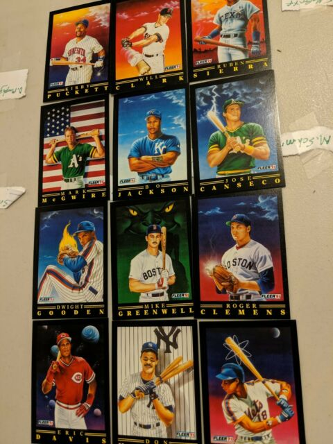 1991 Fleer Pro Visions Insert Sub Set Of 12 Baseball Cards Mint