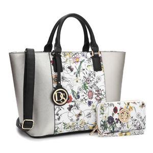 Dasein-Women-Handbags-Large-Tote-Bag-Satchels-Shoulder-Purse-w-Wallet-Set