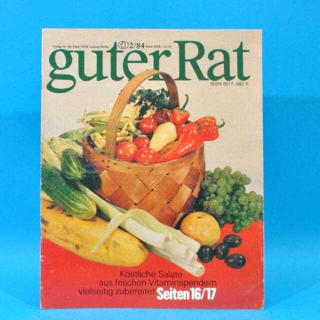 Guter Rat 2-1984 Verlag für die Frau DDR Elasan Klöße Gartenmöbel Sonnenuhr F