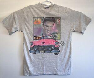 vtg-Vintage-90s-Elvis-Presley-Stamp-Pink-Cadillac-T-Shirt-Single-Stitch-Large
