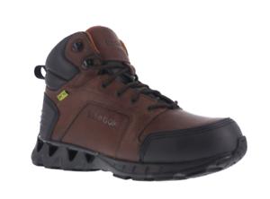 Reebok RB7605 Men s ZigKick Dark Brown Leather Carbon Toe Hiker Work ... 51f948d5e