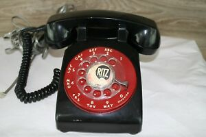 Vintage-1960s-WESTERN-ELECTRIC-Black-C-D-500-Ritz-Crackers-Rotary-Dial-Telephone