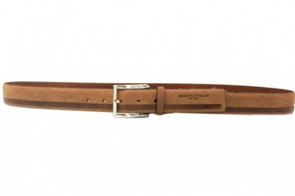 Amabile Cintura Uomo Pelle Armata Di Mare Linea Nabuk Slavato 590.35 Marr Made In Italy